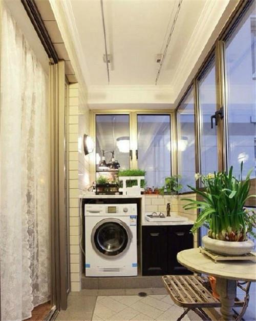 阳台洗衣池装修效果图 让你的阳台变得更实用